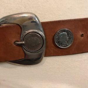 Other - Vintage Swiss 5 Rappen Leather Belt